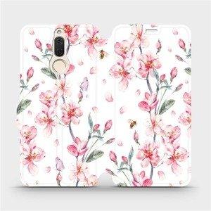 Flipové pouzdro Mobiwear na mobil Huawei Mate 10 Lite - M124S Růžové květy
