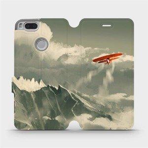 Flipové pouzdro Mobiwear na mobil Xiaomi Mi A1 - MA03P Oranžové letadlo v horách