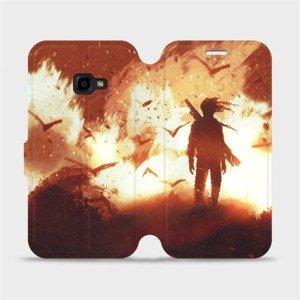 Flipové pouzdro Mobiwear na mobil Samsung Xcover 4 - MA06S Postava v ohni