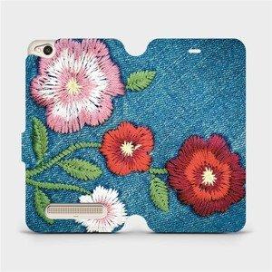 Flipové pouzdro Mobiwear na mobil Xiaomi Redmi 4A - MD05P Džínové květy