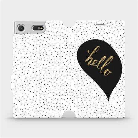 Flipové pouzdro Mobiwear na mobil Sony Xperia XZ1 Compact - M013P Golden hello