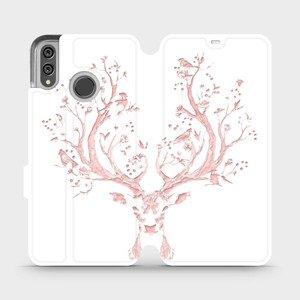 Flipové pouzdro Mobiwear na mobil Honor 8X - M007S Růžový jelínek