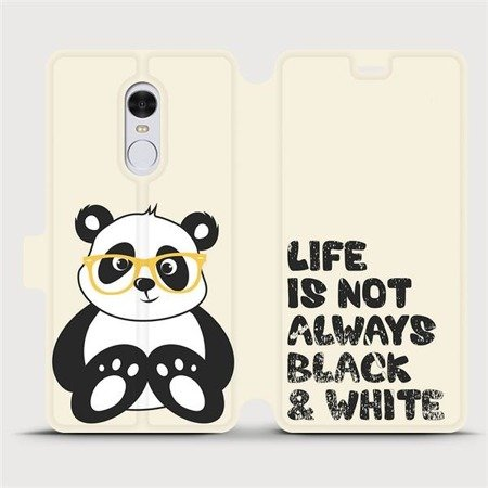 Flipové pouzdro Mobiwear na mobil Xiaomi Redmi Note 4 Global - M041S Panda - life is not always black and white
