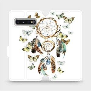 Flipové pouzdro Mobiwear na mobil Samsung Galaxy S10 - M001P Lapač a motýlci
