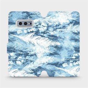 Flipové pouzdro Mobiwear na mobil Samsung Galaxy S10e - M058S Světle modrá horizontální pírka