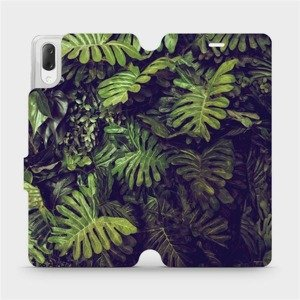 Flipové pouzdro Mobiwear na mobil Sony Xperia L3 - V136P Zelená stěna z listů