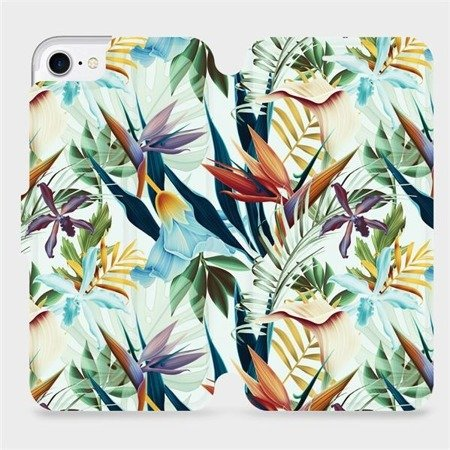 Flipové pouzdro Mobiwear na mobil Apple iPhone 8 - M071P Flóra