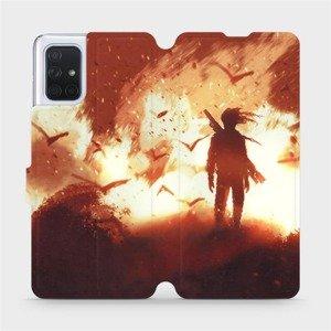 Flipové pouzdro Mobiwear na mobil Samsung Galaxy A71 - MA06S Postava v ohni