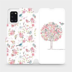 Flipové pouzdro Mobiwear na mobil Samsung Galaxy A31 - M120S Strom a ptáčci