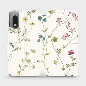 Flipové pouzdro Mobiwear na mobil Samsung Xcover PRO - MD03S Tenké rostlinky s květy