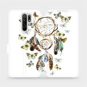 Flipové pouzdro Mobiwear na mobil Xiaomi Redmi 9 - M001P Lapač a motýlci