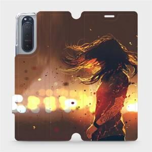 Flipové pouzdro Mobiwear na mobil Sony Xperia 5 II - MA02S Tetovaná dívka