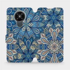 Flipové pouzdro Mobiwear na mobil Nokia 3.4 - V108P Modré mandala květy
