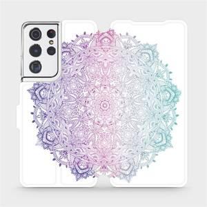 Flipové pouzdro Mobiwear na mobil Samsung Galaxy S21 Ultra 5G - M008S Mandala