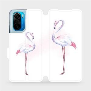 Flipové pouzdro Mobiwear na mobil Xiaomi Mi 11i / Xiaomi Poco F3 - M005S Plameňáci