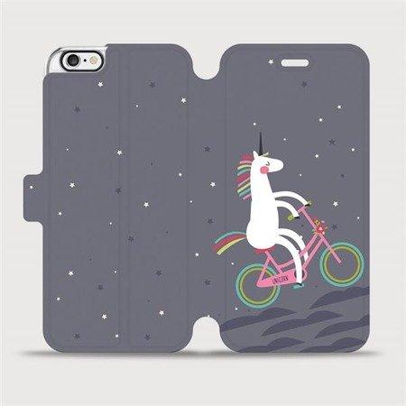 Flipové pouzdro Mobiwear na mobil Apple iPhone 6 / iPhone 6s - V024P Jednorožec na kole
