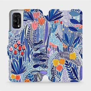 Flip pouzdro Mobiwear na mobil Realme 7 5G - MP03P Modrá květena