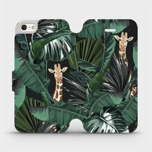 Flip pouzdro Mobiwear na mobil Apple iPhone SE / iPhone 5 / iPhone 5S - VP06P Žirafky