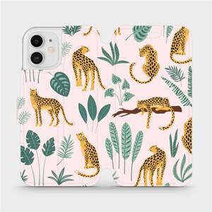 Flip pouzdro Mobiwear na mobil Apple iPhone 12 - MP07S Leopardi