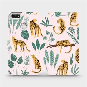 Flip pouzdro Mobiwear na mobil Huawei P9 Lite mini - MP07S Leopardi