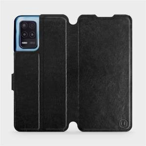 Flip pouzdro Mobiwear na mobil Realme 8 5G v provedení C_BLS Black&Gray s šedým vnitřkem