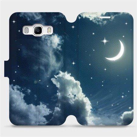 Flipové pouzdro Mobiwear na mobil Samsung Galaxy J5 2016 - V145P Noční obloha s měsícem