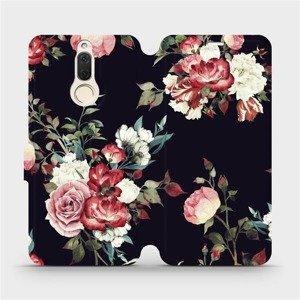 Flipové pouzdro Mobiwear na mobil Huawei Mate 10 Lite - VD11P Růže na černé