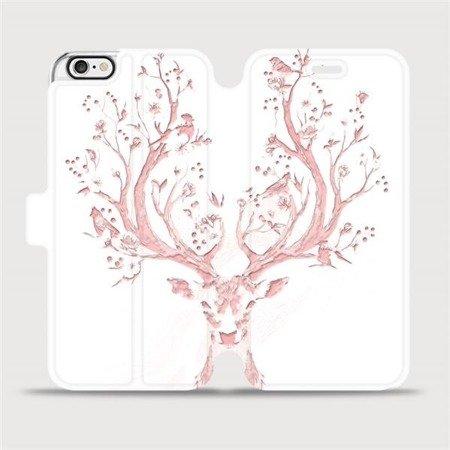 Flipové pouzdro Mobiwear na mobil Apple iPhone 6 / iPhone 6s - M007S Růžový jelínek