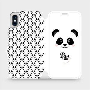 Flipové pouzdro Mobiwear na mobil Apple iPhone XS - M030P Panda Amálka