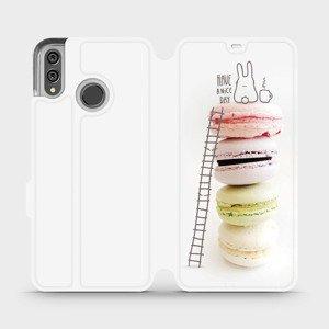 Flipové pouzdro Mobiwear na mobil Honor 8X - M090P Makronky - have a nice day