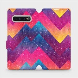 Flipové pouzdro Mobiwear na mobil Samsung Galaxy S10 Plus - V110S Barevné klikyháky