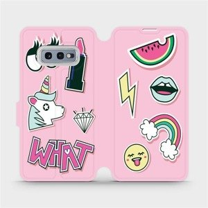 Flipové pouzdro Mobiwear na mobil Samsung Galaxy S10e - M129S Růžové WHAT