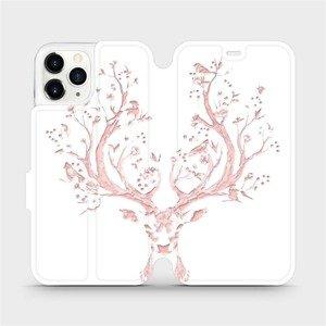 Flipové pouzdro Mobiwear na mobil Apple iPhone 11 Pro - M007S Růžový jelínek