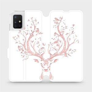 Flipové pouzdro Mobiwear na mobil Samsung Galaxy A51 - M007S Růžový jelínek