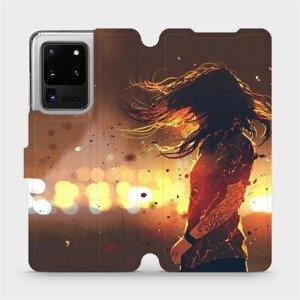 Flipové pouzdro Mobiwear na mobil Samsung Galaxy S20 Ultra - MA02S Tetovaná dívka