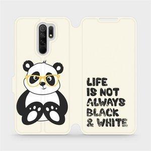Flipové pouzdro Mobiwear na mobil Xiaomi Redmi 9 - M041S Panda - life is not always black and white