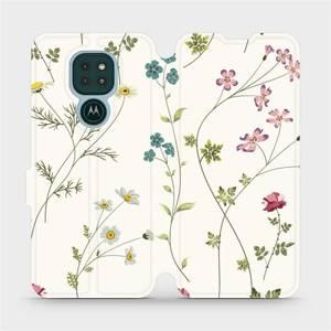 Flipové pouzdro Mobiwear na mobil Motorola Moto G9 Play - MD03S Tenké rostlinky s květy