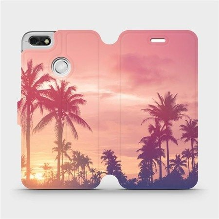 Flipové pouzdro Mobiwear na mobil Huawei P9 Lite mini - M134P Palmy a růžová obloha