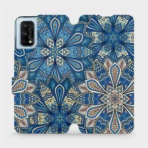 Flipové pouzdro Mobiwear na mobil Realme 7 Pro - V108P Modré mandala květy