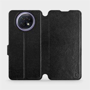 Flipové pouzdro Mobiwear na mobil Xiaomi Redmi Note 9T 5G v provedení C_BLS Black&Gray s šedým vnitřkem