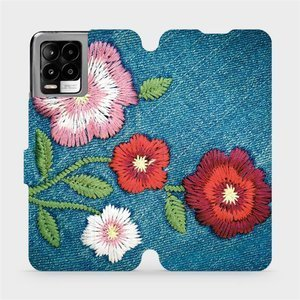 Flip pouzdro Mobiwear na mobil Realme 8 Pro - MD05P Džínové květy