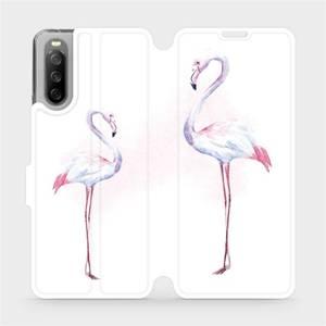 Flip pouzdro Mobiwear na mobil Sony Xperia 10 III - M005S Plameňáci