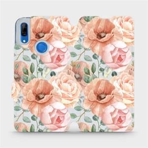Flip pouzdro Mobiwear na mobil Huawei P Smart Z - MP02S Pastelové květy
