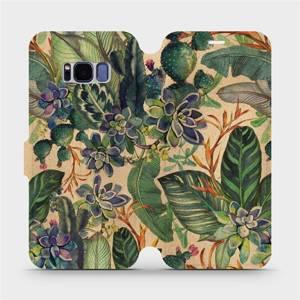Flip pouzdro Mobiwear na mobil Samsung Galaxy S8 - VP05S Sukulenty