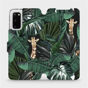 Flip pouzdro Mobiwear na mobil Samsung Galaxy S20 - VP06P Žirafky