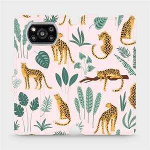 Flip pouzdro Mobiwear na mobil Xiaomi POCO X3 NFC - MP07S Leopardi