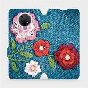 Flip pouzdro Mobiwear na mobil Nokia G10 - MD05P Džínové květy