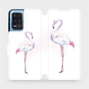 Flip pouzdro Mobiwear na mobil Realme 8 5G - M005S Plameňáci