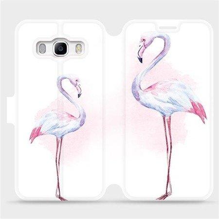 Flipové pouzdro Mobiwear na mobil Samsung Galaxy J5 2016 - M005S Plameňáci