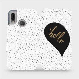 Flipové pouzdro Mobiwear na mobil Huawei P20 Lite - M013P Golden hello